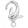 Lobster Clasp 18mm Brass Nickel free, Lead free Silver Plated